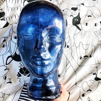 Glass mannequin  Head