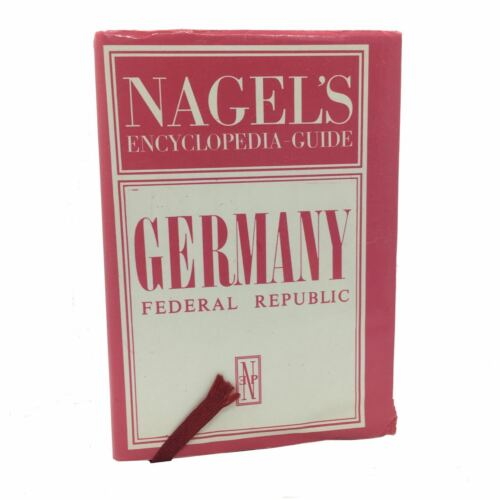 Vtg GERMANY FEDERAL REPUBLIC Nagels Encyclopedia Travel Guide 7 Foldout Maps