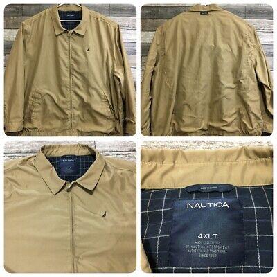 Nautica Harrington Jacket Men's 4XLT Beige Full Zip EUC!