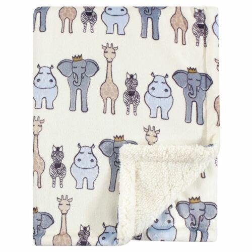 Hudson Baby Mink Blanket with Sherpa Backing, Royal Safari,