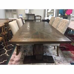 """""""Tuscany"""" Mango Wood  Pedestal Base 240 x 110cm Dining Table"""