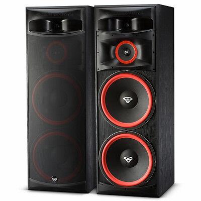 "Set of 2 XLS-215 500W Home Audio 3-Way Dual 15"" Floor Standing Tower Speakers"