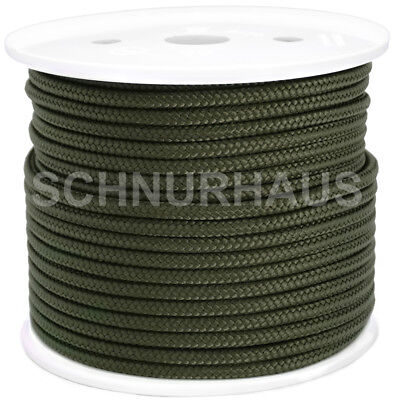 5mm PP-Seil 50m oliv Polypropylenschnur Tarnung military Bundeswehr, SCHNURHAUS