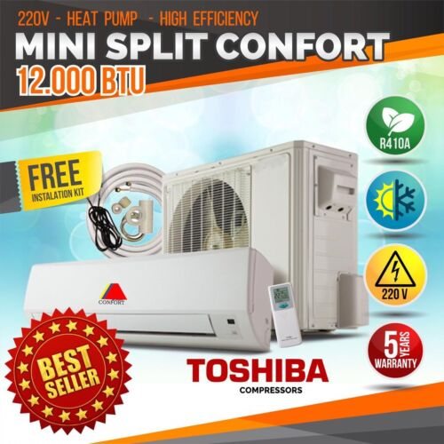 CONFORT MINI SPLIT 12000BTU SYSTEM DUCTLES AC HEAT PUMP 220V