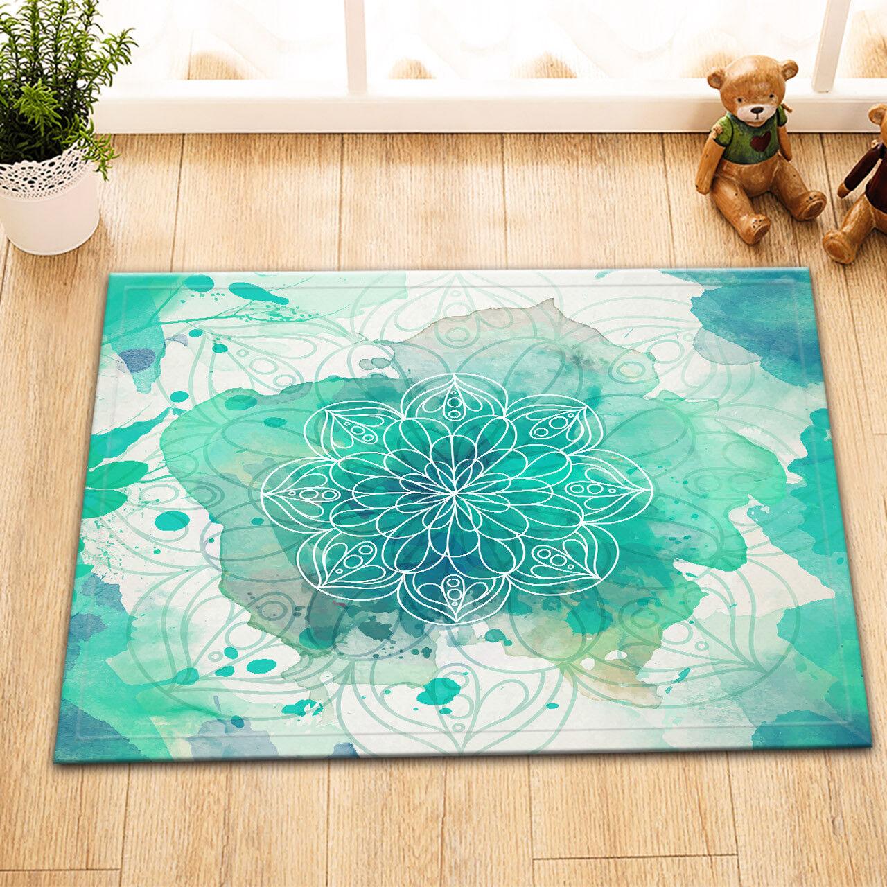 """Mandala Dragon Hippie Non-Slip Bathroom Decor Carpet Bath Mat Rug Carpet 24x16/"""""""