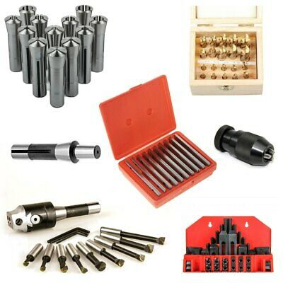 All Industrial Milling Kit C With 20 Pc. 2 4 Flute Hss Tin Coated End Mill Set