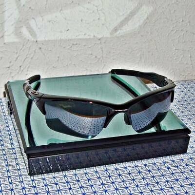 NEW OAKLEY MEN'S HALF JACKET 2.0 XL BLACK IRIDIUM SEMI-RIMLESSS SUNGLASSES  (New Oakleys)