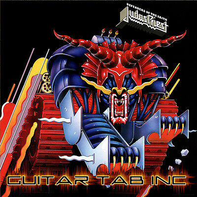 Judas Priest Guitar & Bass Tab DEFENDERS OF THE FAITH Lessons on Disc on Rummage