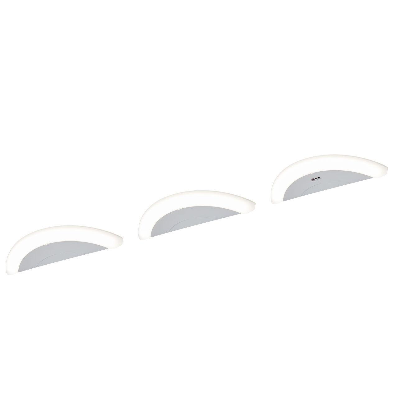 3er Set LED Unterbau Leuchten silber Küchen Strahler Dreieck Spot Schrank Lampen