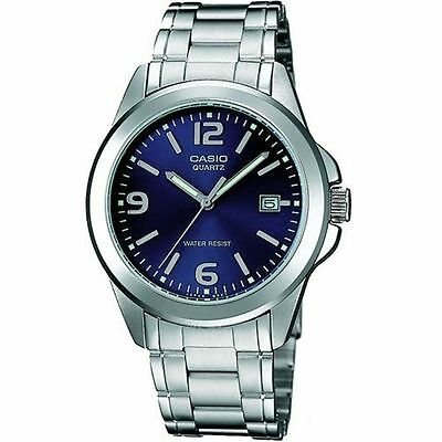 Casio Mens MTP1215A-2A Stainless Steel Analog Casual Dress Watch Quartz BLUE Casio Casual Mens Sport Watch