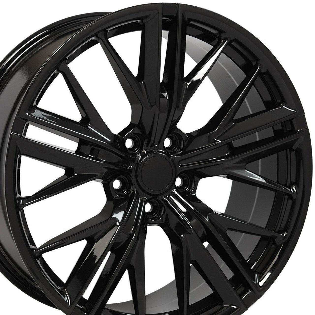 ::20 Gloss Black Wheels 20x10 +23 / 20x11 +43 Fit Chevrolet Camaro Chevy Set 4