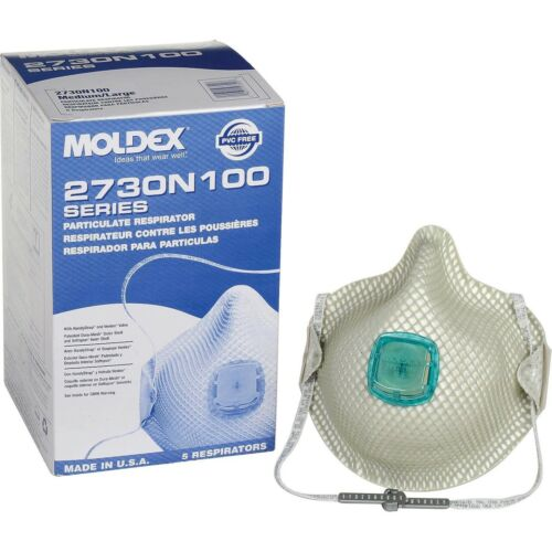 Moldex 2730N100 Box of 5, NIOSH N Grade 100, Size Medium / Large - MADE IN USA