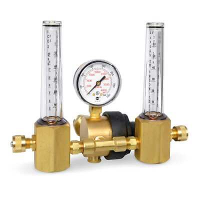 Miller Smith 23-50-580 Regulator Flowmeter Dual Multi-scale 50 Psi