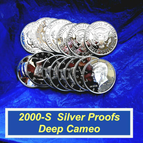 2000-S SILVER PROOF Kennedy Half  ⭐️ Impeccable GEMS  ⭐️  Deep Cameo  ⭐️ (R8362)