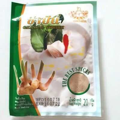 The best spices herbal for cooking Tom kha Gai soup Galangal powder