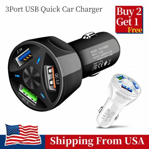 USB Fast Quick Car Charger Adapter Rapid Charge For Android