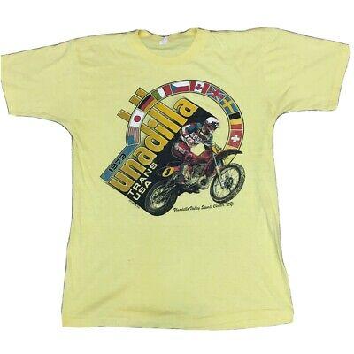 1970s Mens Shirt Styles – Vintage 70s Shirts for Guys Vintage 1970s Unadilla Trans Usa Motocross Shirt 70s $135.00 AT vintagedancer.com