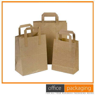 Large White Kraft Takeaway Paper Food Carrier Bags 7