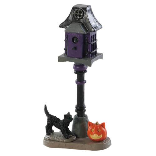 LEMAX SPOOKY TOWN HAUNTED BIRDHOUSE BLACK CAT PUMPKIN #84338 Halloween