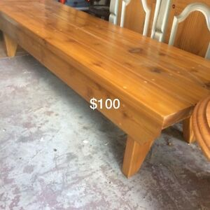 Solid pine Handmade bench