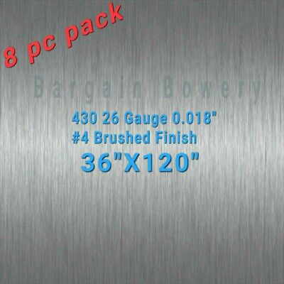 8p 36 X 120 430 Stainless Steel Sheet Wall Covering 26 Gauge 0.018