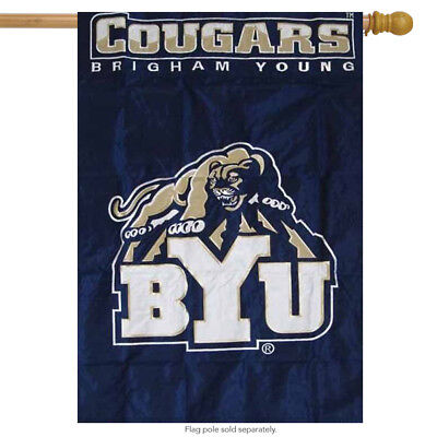 Brigham Young Applique Embroidered Banner House Flag NCAA Applique House Banner Flag