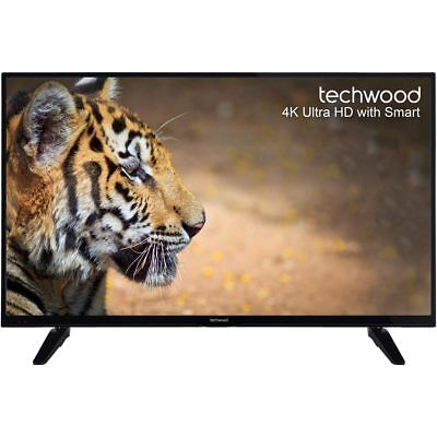 Techwood 49AO6USB 49 Inch Smart LED TV 4K Ultra HD 3 HDMI New