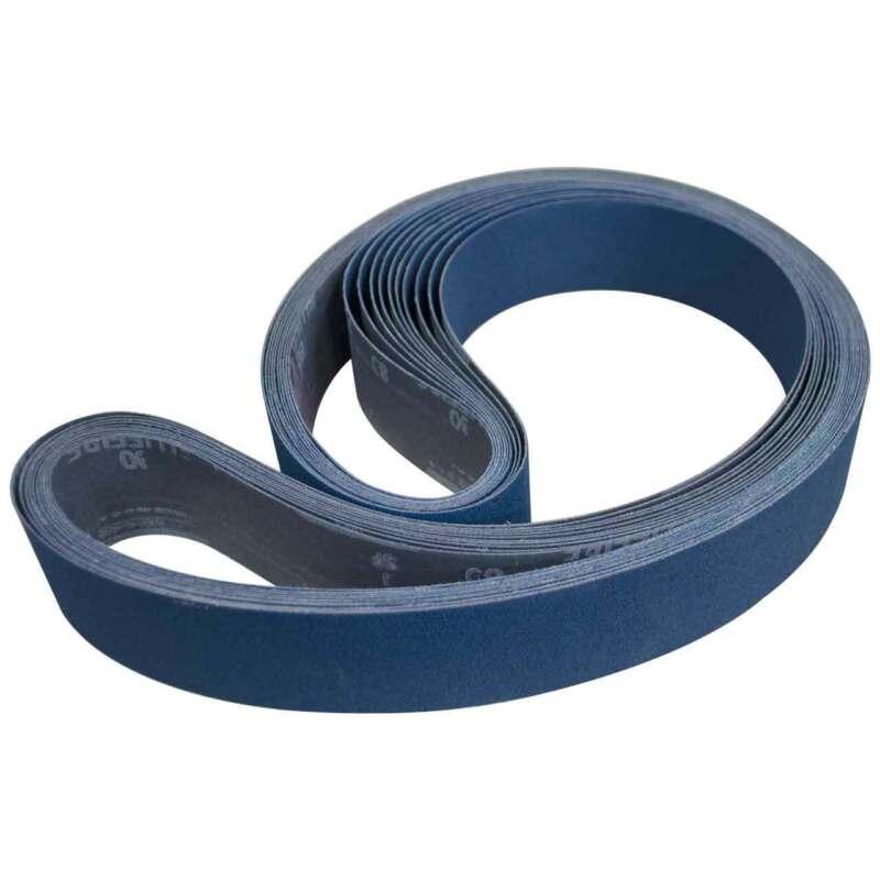 """Norton 78072727142 2x72"""" BlueFire R821P ZA Cloth Narrow Belts 80 Grit 10 pk"""
