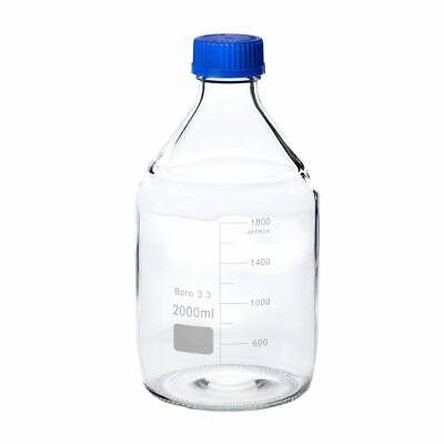 2000ml Clear Glass Reagent Bottle W Cap 1pk