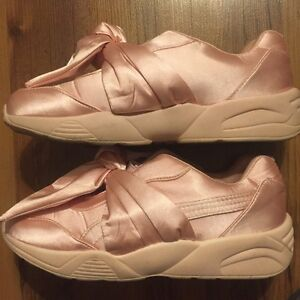Pink satin shoes
