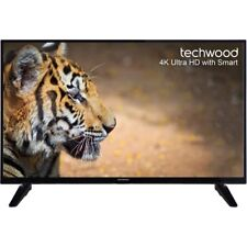 Techwood 43AO6USB 43 Inch Smart LED TV 4K Ultra HD Freeview HD 3 HDMI New