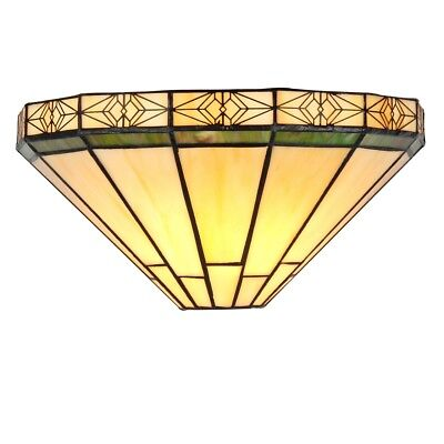 Tiffany Style Stained Glass 1 Bulb Wall Sconce Fixture 12