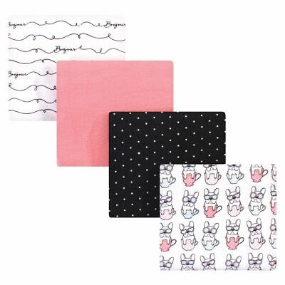 Hudson Baby Cotton Flannel Receiving Blankets, Bonjour, One Size