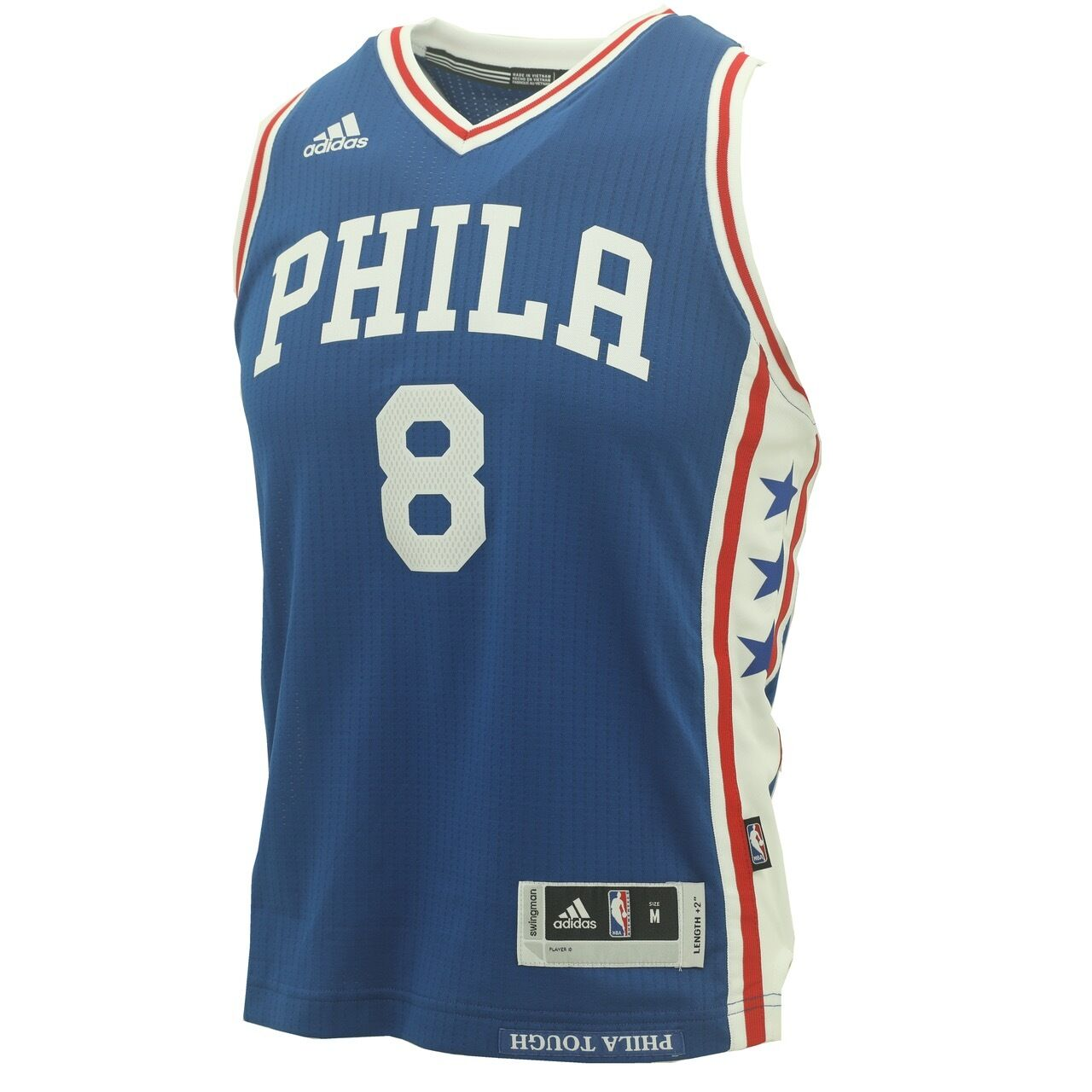 pretty nice 0779d 9db50 Details about Adidas Philadelphia 76ers Youth Size Okafor Swingman official  NBA +2