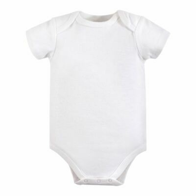 Luvable Friends Boy and Girl Bodysuits, 1-Pack, White