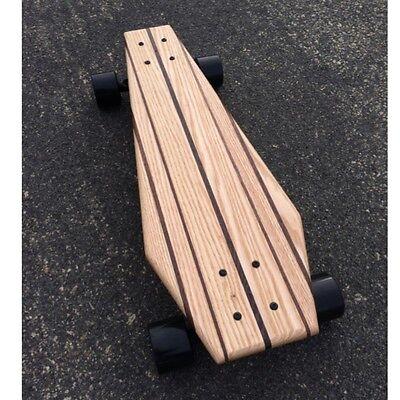 Oak Coffin Croozer - Mini Cruiser Skateboard made from solid wood