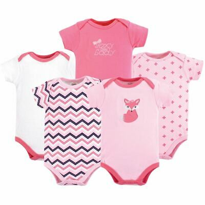 Luvable Friends Girl Bodysuits, 5-Pack, Foxy