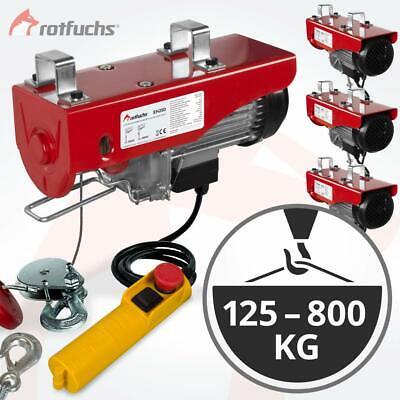 Rotfuchs® Elektrische Seilwinde Motorwinde Hub Seilhebezug Seilzug Winde Kran