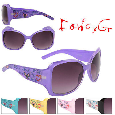 Women Fashion Sunglasses Cute Love Peace Heart UV 400 Protection x 12 Assorted