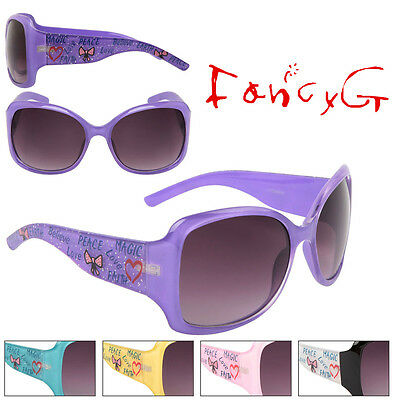 Women Fashion Sunglasses Cute Love Peace Heart UV 400 Protection x 12 Assorted