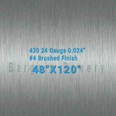 430 4 X 10 Stainless Steel Sheet Wall Covering 24 Gauge 0.024
