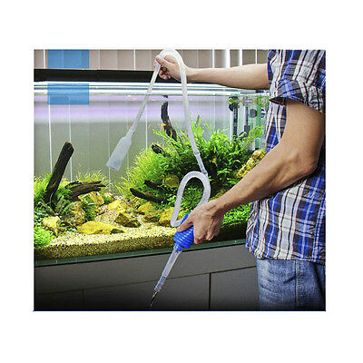 Fish Tank Gravel Vacuum Cleaning Cleaner Siphon Pump Filter Change water Tool