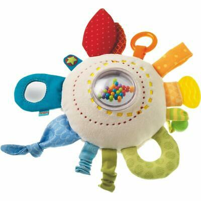 HABA Teether Rainbow Round - Soft Activity Toy with Rattling & Teething Haba Soft Toys