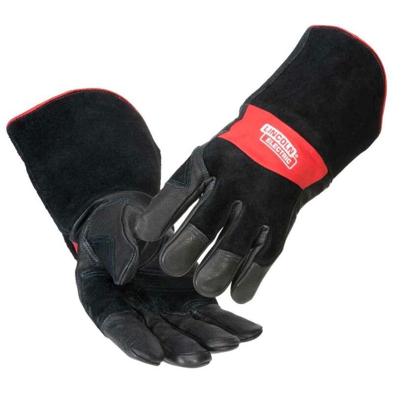 Lincoln Electric K2980 Premium Grain Cowhide MIG/Stick Welding Gloves Medium