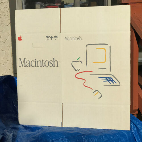 EXCLUSIVE MASTERPIECE !! never !! unfolded Macintosh box f Apple Computer Museum