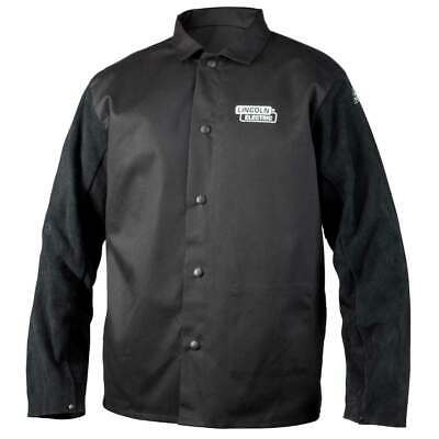Lincoln Electric K3106 Traditional Split Leather Sleeved Welding Jacket 3xl