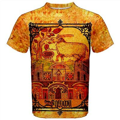 18th Century Shirts (Valhalla Viking T-Shirt 18th century Norse Folk Art Mythology Odin)
