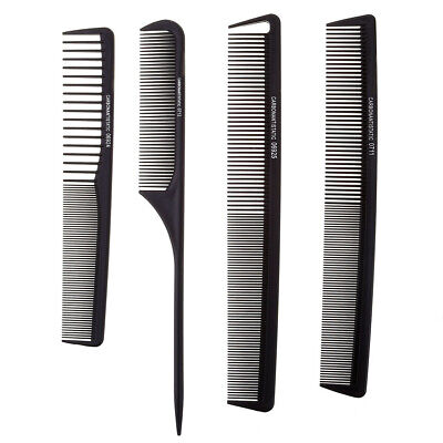 Professional Black Salon Hair Styling Hairdressing Anti Static Barber Comb Set
