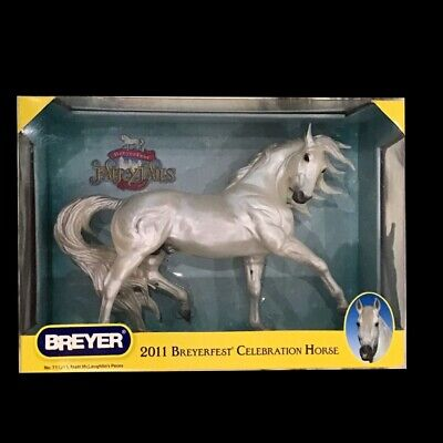 BREYER HORSE PECOS 711213 ESPRIT MOLD ANDALUSIAN PEARLY WHITE DAPPLED GREY