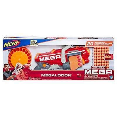 NERF COS1221792 Megalodon N-Strike Blaster with 60 Mega Whistler Darts